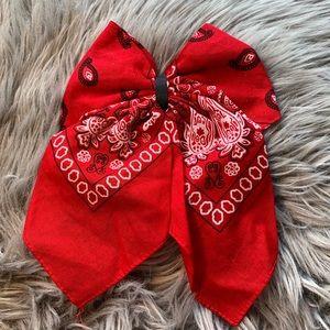 Handmade red Hair Bow